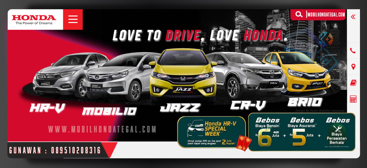 Banner Mobil Honda Tegal By Kedaiwebsite Indonesia
